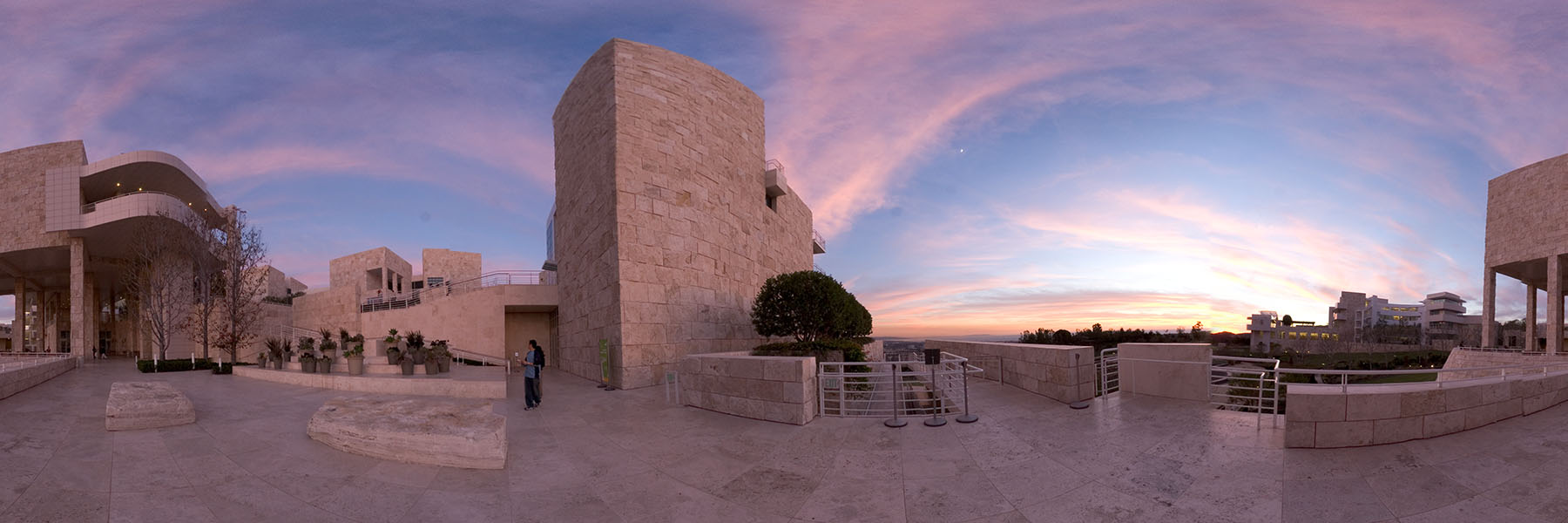 Getty at dusk