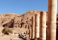 Jordan - Petra - Tombs and Colonnade