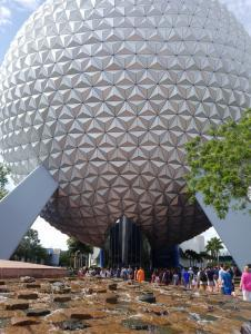 Disney World - Epcot - Spaceship Earth - at main entrance