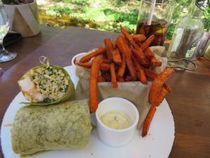 Inn of the Seventh Ray - Topanga - Shrimp and Papaya Wrap