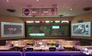 Kennedy Space Center Mission Control replica