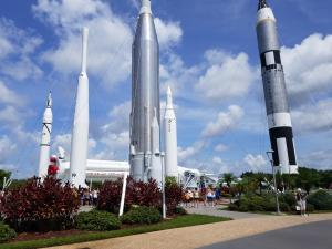 KSC - Rocket Garden - main plaza
