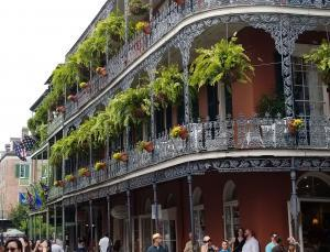 NOLA French Quarter Iron Works balconies