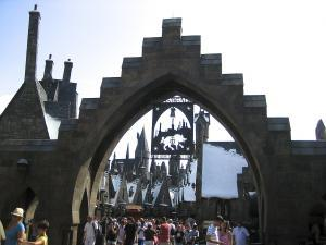 Universal Islands of adventure -Wizarding World Entrance - Wikipedia by AlfredA_Si