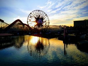 California Adventure park at dusk