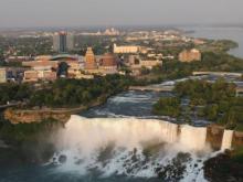 Niagara Falls Canada - USA side across the river