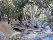 Switzer Falls California - trailhead - footbridge