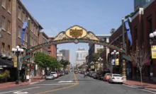 San Diego Gaslamp Quarter - entrance from the waterfront - Wikipedia