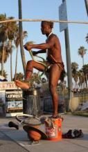 Venice Beach, CA - street performer