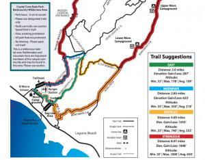 Crystal Cove hiking trails map