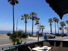 Carlsbad Seawall - view from Dini's
